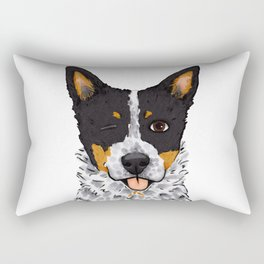 Blue Heeler Wink Rectangular Pillow