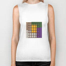 The play between the squares Biker Tank