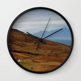 Scotland Argyll mountain landscape Wall Clock