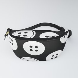 Black and White Buttons Pattern Fanny Pack