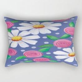 Daisey Pattern Rectangular Pillow