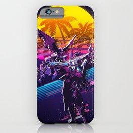 quinn league of legends game 80s palm vintage iPhone Case