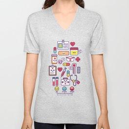Proud To Be a Nurse Pattern / Purple Unisex V-Neck