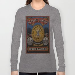 Vintage poster - Singer Sewing Machine Long Sleeve T-shirt