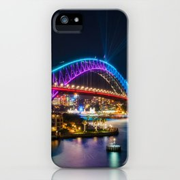 Bridging the gap: from the past and into the future iPhone Case
