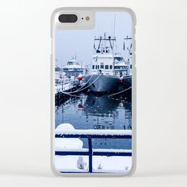 Boatyard Ushuaia - the the southernmost city in the world Clear iPhone Case