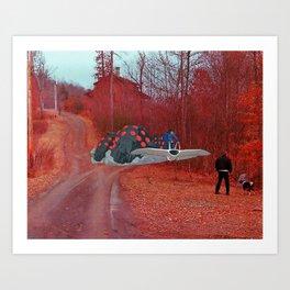 Nausicaa & the Ohmu (Nausicaa of the valley of the wind) (Burnsville NC) Art Print