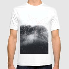 Abstract mountains SMALL Mens Fitted Tee White