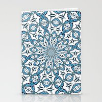 snowflake Stationery Cards featuring Snowflake by Stay Inspired