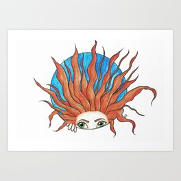 Crazy hair Art Print