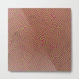 Neon Lab Bubblegum Pattern Metal Print
