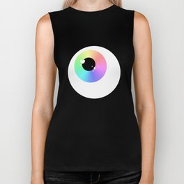 Lovely Sparkly Rainbow Eyeballs Biker Tank