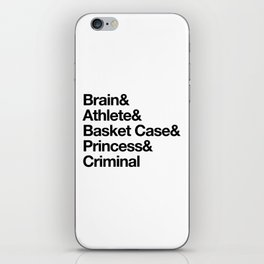 """Breakfast Club Ampersand """"They see us as they want to see us"""" iPhone Skin"""