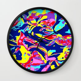 Pop and Abstract Wall Clock