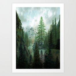 Mountain Morning 2 Art Print