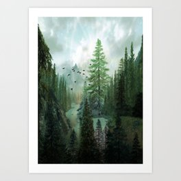 Mountain Morning 2 Art Print