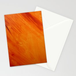 Orange and Red Abstract Acrylic Painting Stationery Cards