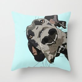 Great Dane In Your Face Throw Pillow