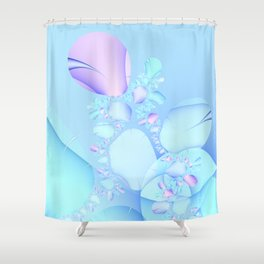 Flowers in Baby Pastels Shower Curtain