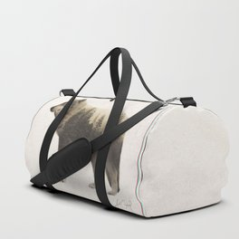 Wolf (Double Exposure Animal Portrait) Duffle Bag