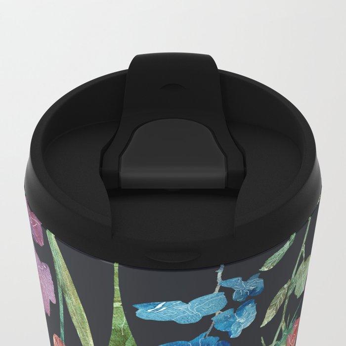 New Flowers at Night Metal Travel Mug