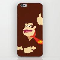 donkey kong iPhone & iPod Skins featuring Donkey Kong - Minimalist - Nintendo by Adrian Mentus