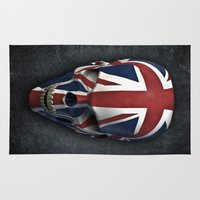 british flag Area & Throw Rugs featuring British horror by GrandeDuc