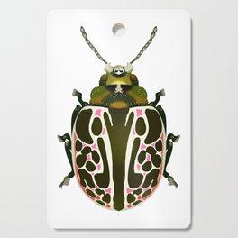 Green, White, Pink Beetle Cutting Board