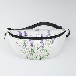 purple lavender watercolor painting Fanny Pack