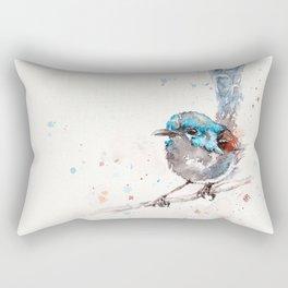 Mischief In The Making (Variegated Fairy Wren) Rectangular Pillow