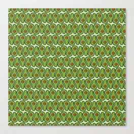 Avocado Doodle Pattern - Taco Series Canvas Print