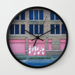 Pink Promises Wall Clock