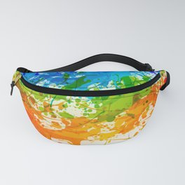Colorful Splashes Fanny Pack