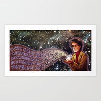 carl sagan Art Prints featuring Carl Sagan Tribute by Catus