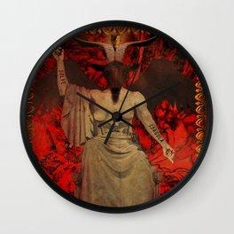 Baphomet Tarot Wall Clock