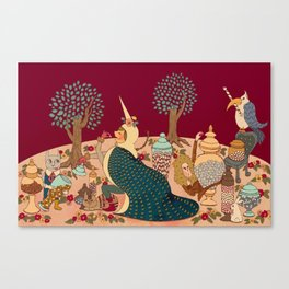 "The Lady is the Unicorn ""Taste""   Canvas Print"