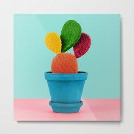Colorful popart cactus Metal Print