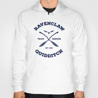 quidditch Hoodies featuring Ravenclaw Quidditch Team Seeker: Blue by Sharayah Mitchell
