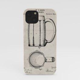 Beer Mug Patent - Craft Beer Art - Antique iPhone Case