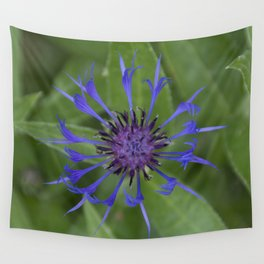 Thin blue flames in a sea of green Wall Tapestry