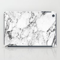 white marble iPad Cases featuring Marble by MatiasMilton