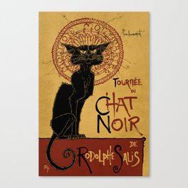 Le Chat Noir Canvas Print