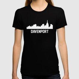 Davenport Iowa Skyline Cityscape T-shirt