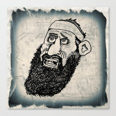Bearded Gent from the Motorcycle Club Canvas Print