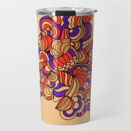 Goldenrod and Violet Travel Mug