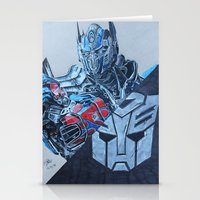 optimus prime Stationery Cards featuring Optimus Prime  by JH Art