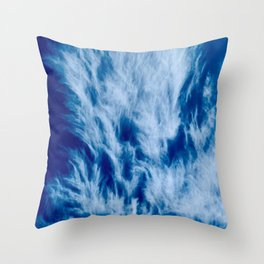 Blue Sky with Clouds Weather Atmosphere Beautiful  Throw Pillow