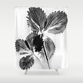 Strawberry Leaves Shower Curtain