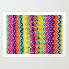 CRAYON LOVE: Cray Tribal Art Print