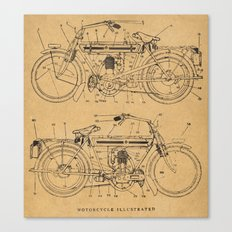 Motorcycle Diagram Canvas Print